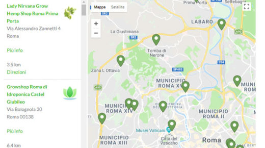 mappa roma marijuana