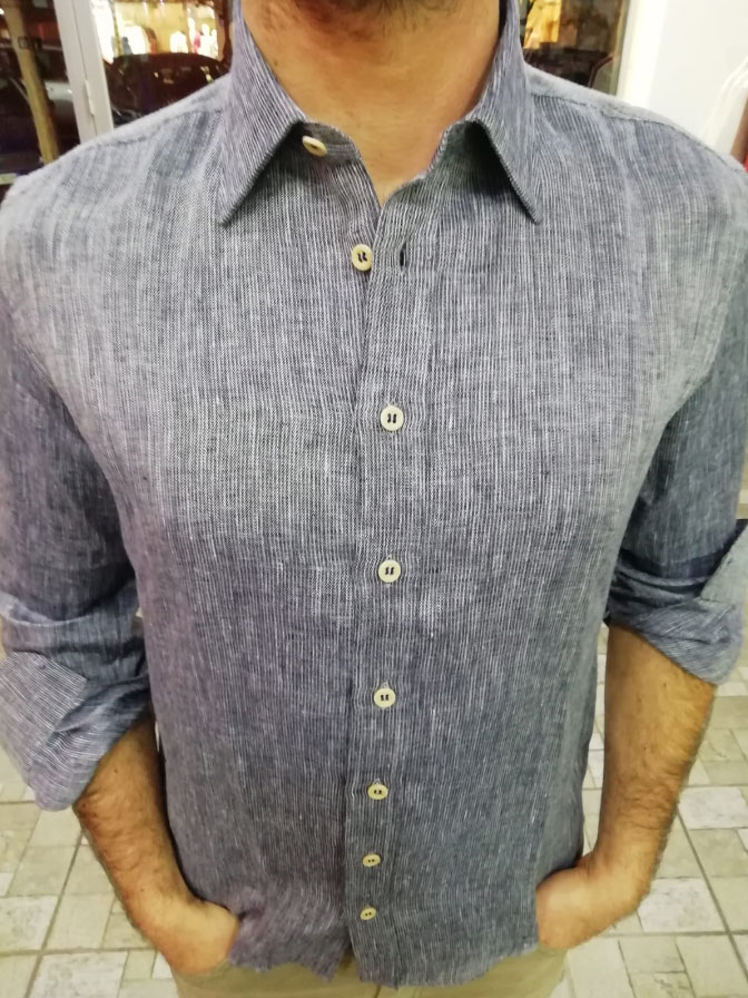 camicia canapa fronte